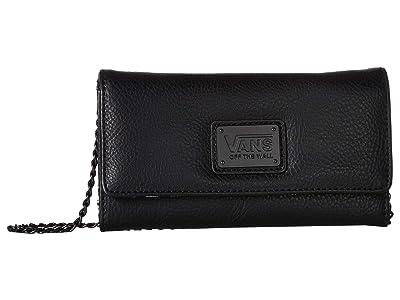 Vans Chained Reaction Wallet (Black/Warp Check) Wallet Handbags