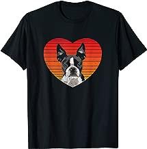 I Love boston terrier Shirt Funny Heart Valentine Gift