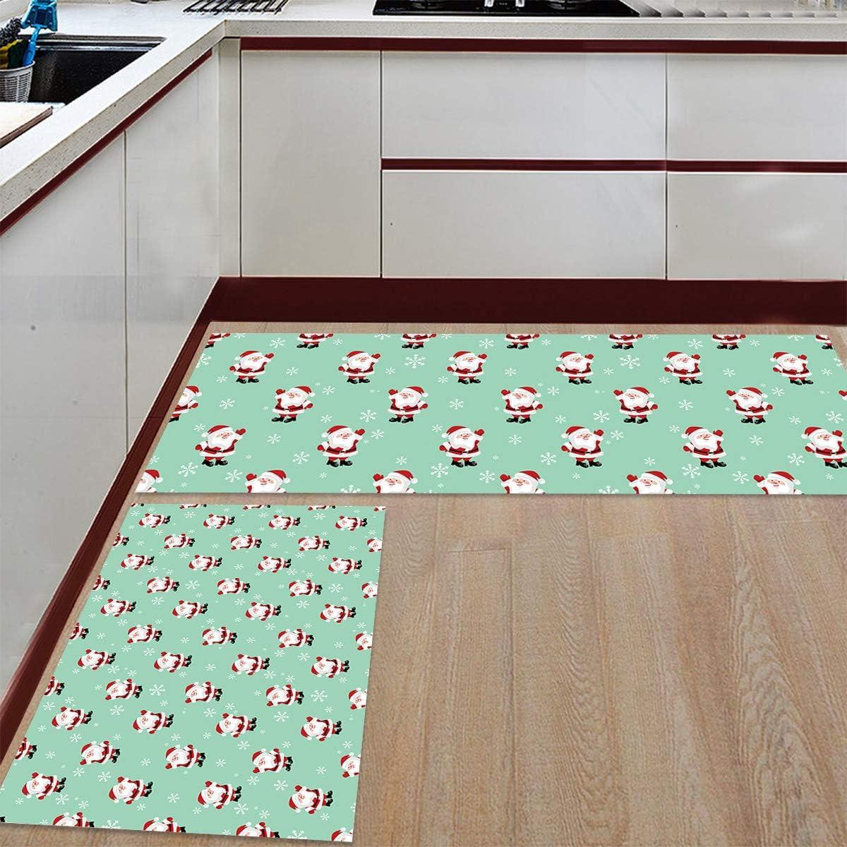 Womenfocus Kitchen Mat Super popular specialty store List price Set Anti-WearNon-Slip Pi Floor Rug 2