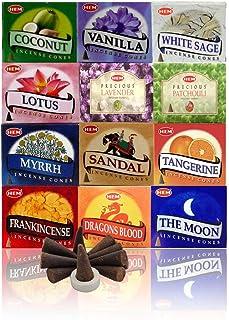 HEM Pack of 12 Assorted Incense Cones (10 Cones Each Total 120 Cones)