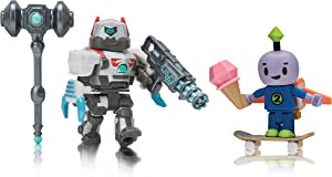 Roblox Action Collection - Robot 64: Beebo + DuelDroid 5000 Two Figure Bundle [Includes 2 Exclusive Virtual Items]
