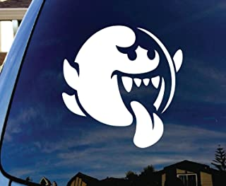 CMI272 Mario Brothers Boo Car Window White Vinyl Decal Sticker 4