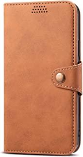 Stylish Cover Compatible with iPhone 11, brown Leather Flip Case Wallet for iPhone 11