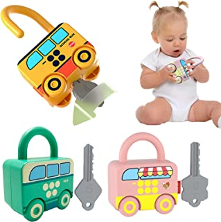 MOAOZ Inertia Toy Early Educational Baby Toy Inertial School Bus, Bus , Ice Cream Truck,Unlock Toy car for 1 2 3 4 5 Year ...