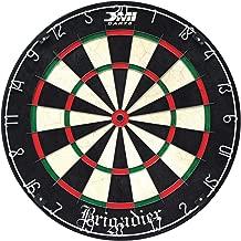 DMI Sports Brigadier Regulation-Size Staple-Free Bristle Dartboard with Staple-Free Wiring System and Bullseye