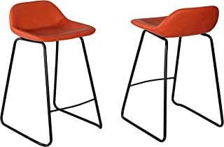 Best leather fixed height bar stools Reviews