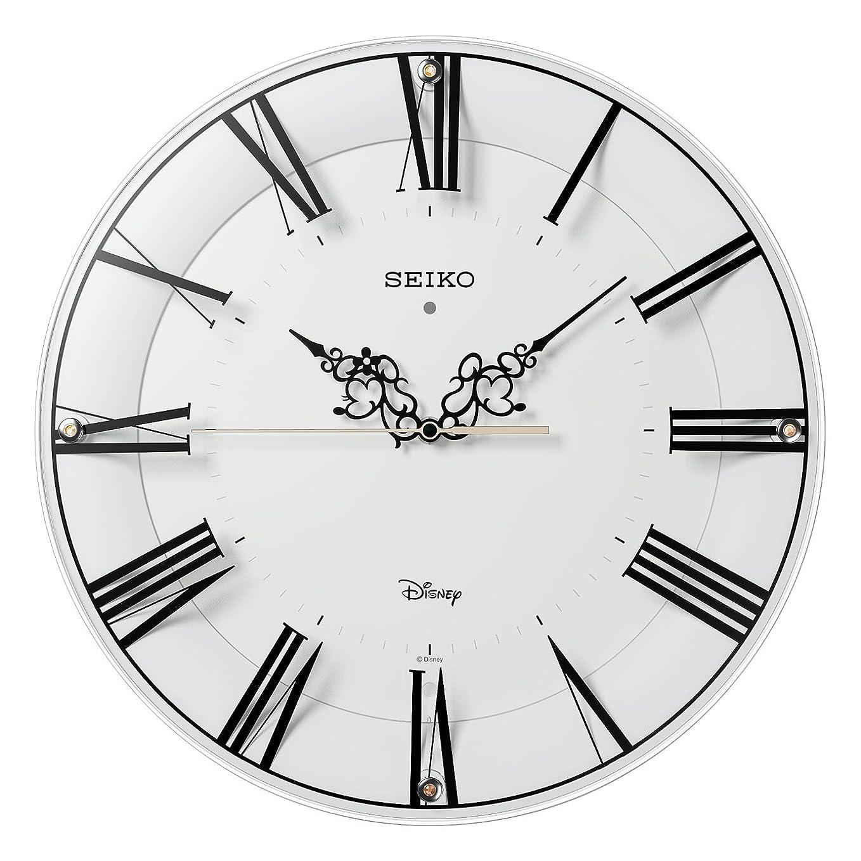 かわすく残りセイコー クロック 掛け時計 ミッキーマウス ミニーマウス 電波 アナログ 大人ディズニー 白 FS506W SEIKO