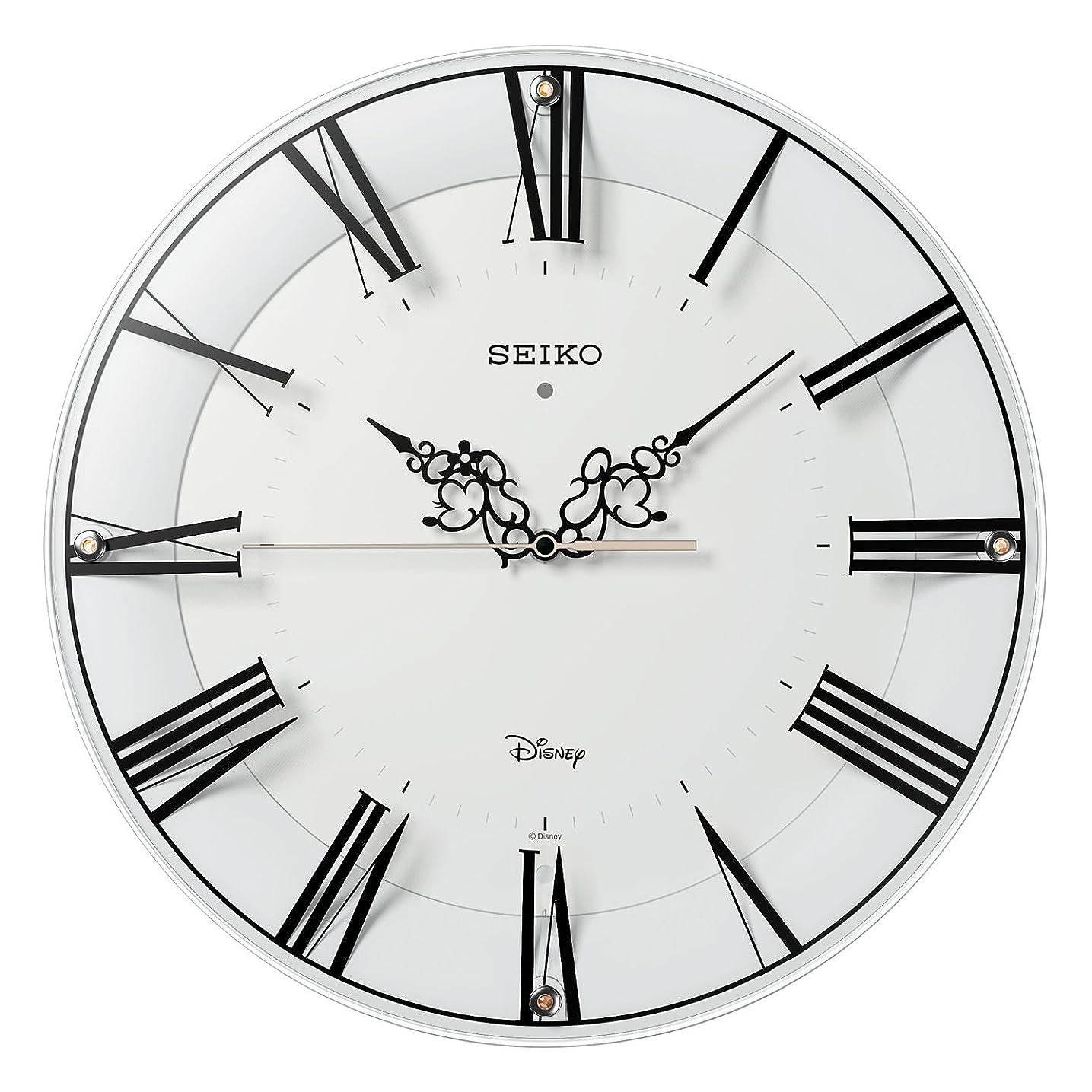 セイコー クロック 掛け時計 ミッキーマウス ミニーマウス 電波 アナログ 大人ディズニー 白 FS506W SEIKO