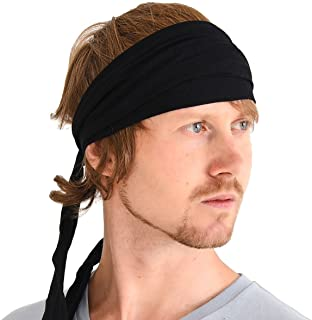CHARM Men Hippie Japanese Headband - Women Hair Band Boho Head Wrap Pirate Bandana