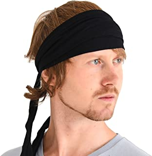 Men Hippie Japanese Headband - Women Hair Band Boho Head Wrap Pirate Bandana