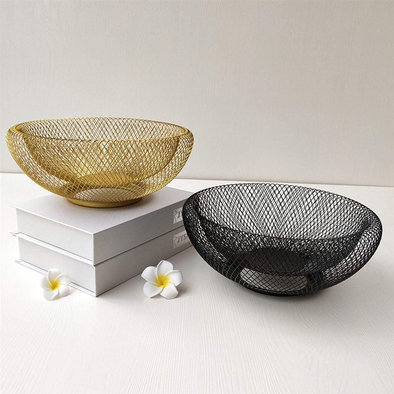 Gold gerFogoo Fruit Basket Bowl Holder Dining Table Kitchen Counter Organizer Metal Serving Basket Display for Vegetable Bread Snacks Household Items