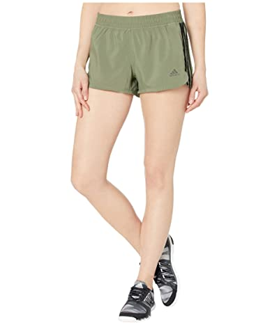 adidas 3-Stripe Woven Shorts (Legacy Green/Black) Women
