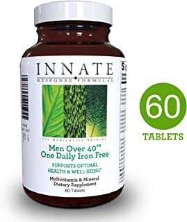 INNATE Response Formulas - Men Over 40 One Daily Iron Free, Foundational Multivitamin Formula for Men in One Convenient Tablet, 60 Tablets