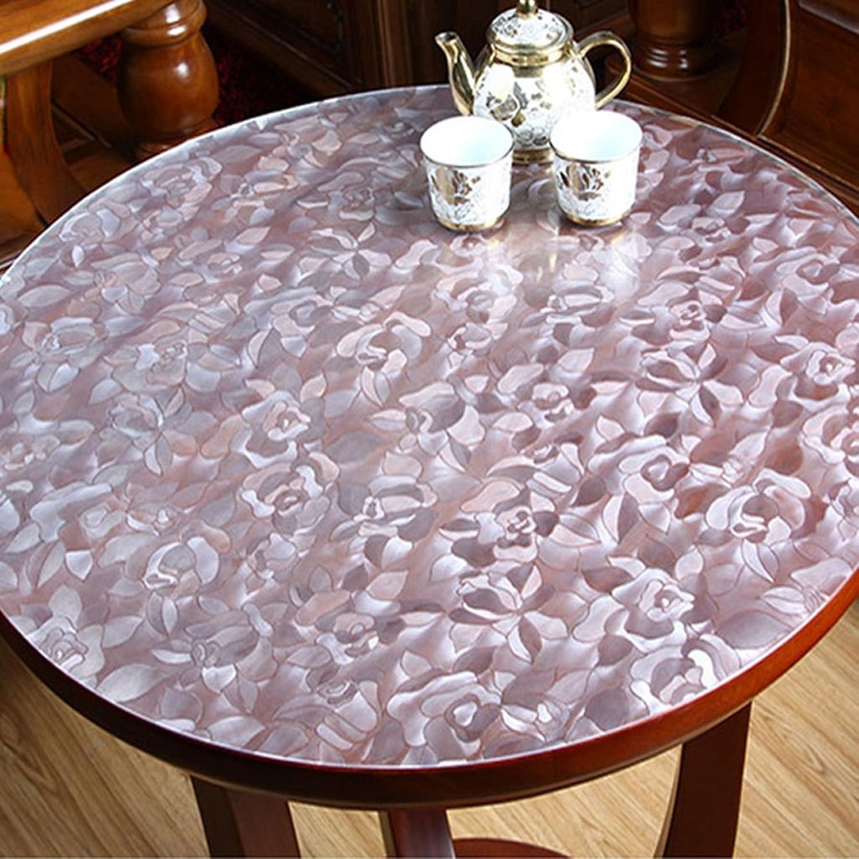 LITINGMEI Tablecloths PVC-runde Tischdecken-Küche-Wasserdichte Tischdecken-transparente weiche Glaskristallplatten-Plastiköl-Tischdecken (Farbe   A, größe   120  120cm) B0794WK4DZ Hochwertig   | Die Qualität Und Die Verbraucher Zunäch