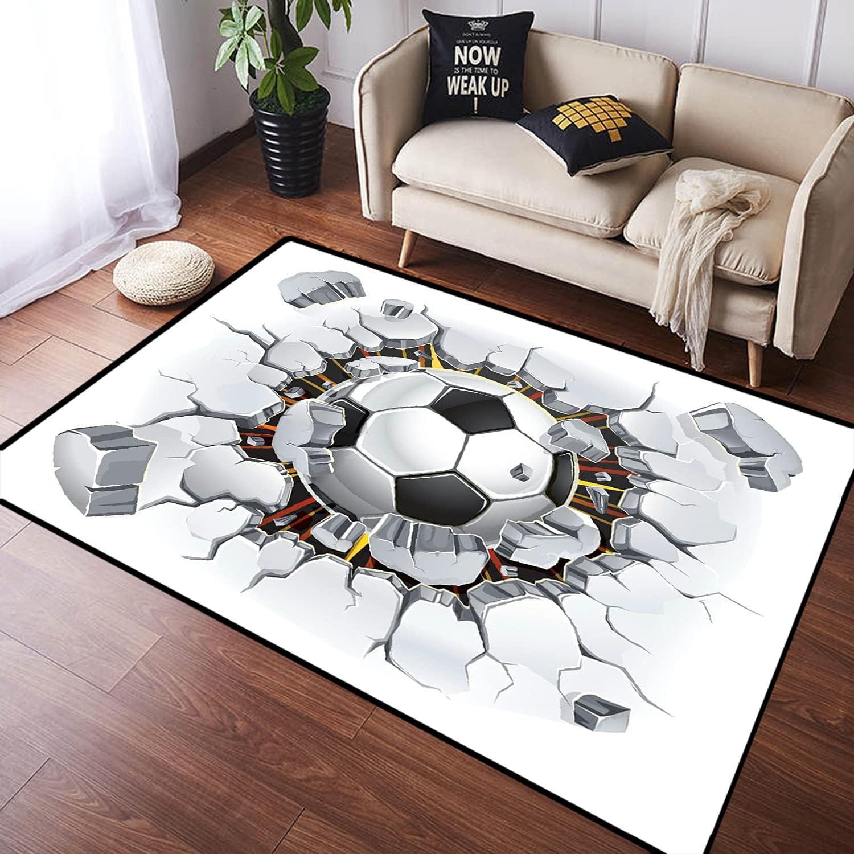 KUDOUXIA American Football 3D sold Manufacturer OFFicial shop out Large Ru Mat Carpet Floor Non-Slip