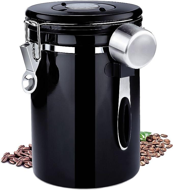 11 opinioni per Frasheng Barattolo caffè Ermetico,Contenitore in Acciaio Inox,Valvola
