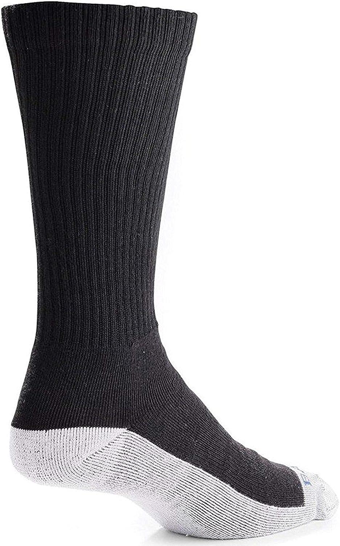 Bates Men's White BTTM Mid Calf Socks