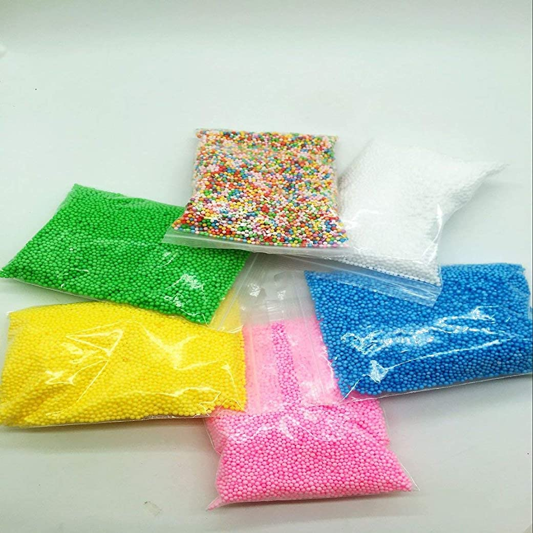 深くバルコニー定説ポリスチレン発泡スチロールプラスチックフォームミニビーズボールDIYアソートカラーは、イベントパーティー用品の装飾を飾る-ピンク