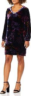 فستان مخملي للنساء برقبة على شكل حرف V من ترينا ترك