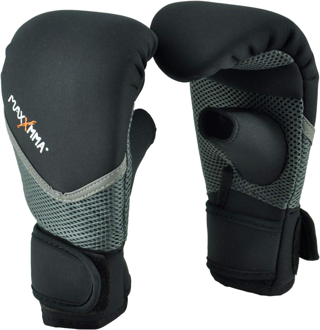 MaxxMMA Neoprene Washable Heavy Bag Gloves - Boxing Punching Tra