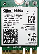 Killer Wi-Fi 6 AX1650 Module – Dual Band, 2x2 Wi-Fi 6/11AX, Bluetooth 5.0, M.2/NGFF (Gig+)