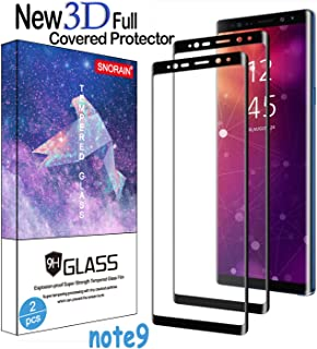 Galaxy Note 9 Screen Protector, (2-Pack) Tempered Glass Screen Protector [Force Resistant up to 11 pounds] [Full Screen Coverage] [Case Friendly] for Note 9 (Released in 2018)