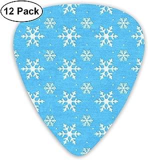 Guitar Strap Frozen Elsa Poses Snowflake Swirls Blues White 2 Inches Wide