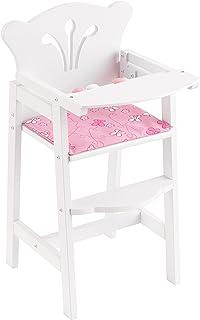 KidKraft 61101 Trona de madera Lil' Doll para muñequitas de 45 cm, muebles para dormitorio de niños