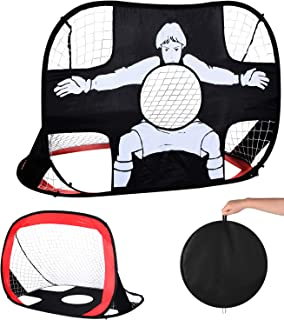 CAIHELONG Foldable pop-up Soccer Goal Outdoor Portable Children's Soccer net and Carrying case Kids Soccer Goal Perfect for Indoor & Outdoor Sports and Practice