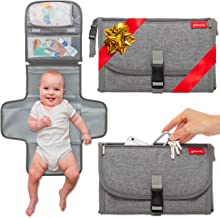 Portable Diaper Changing Pad - Baby Travel Changing Station Mat Clutch | Slim Hygienic Durable | Memory Foam Comfort Pillow | Diaper Bag Accessories | Baby Shower Gifting by Groverly