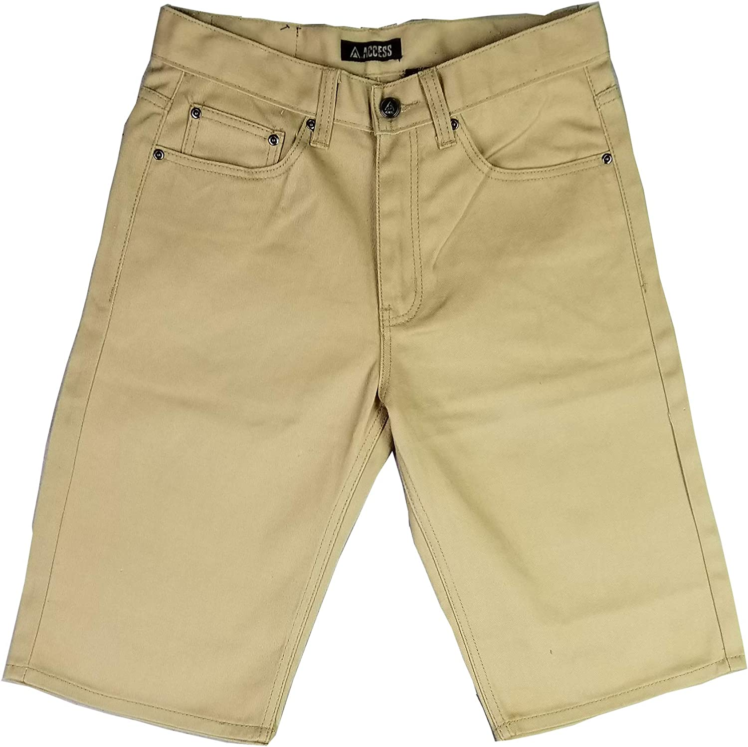 Access Solid Color Jeans Twill Shorts