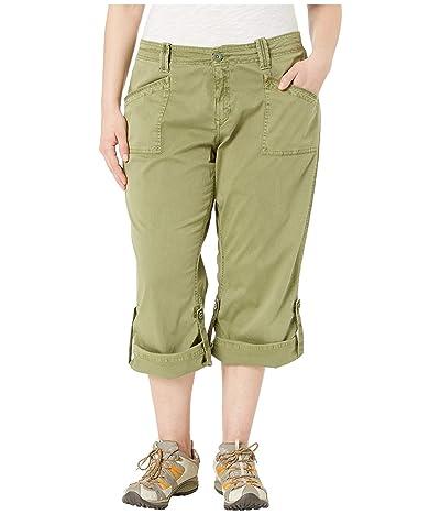 Aventura Clothing Plus Size Addie V2 Capris (Olivine) Women