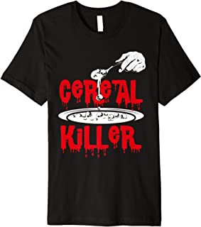 Cereal Killer Halloween Costume Breakfast Food Pun Premium T-Shirt