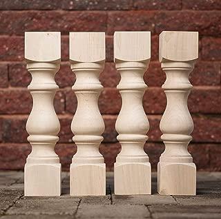 Carolina Leg Co. Maple Monastery Bench Legs - Set of 4-3.5