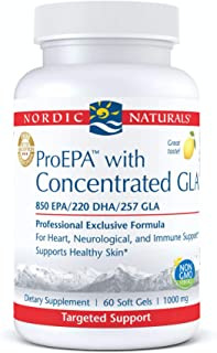 Nordic Naturals ProEPA with Concentrated GLA, Lemon - 60 Soft Gels - 1217 mg Omega-3 + 257 mg GLA - Heart, Neurological & ...