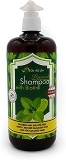 Sponsored Ad - Peppermint Shampoo with Biotin, Aloe Vera, Vitamins & Green Tea – Thinning, Volumizing & Refreshing Shampoo...