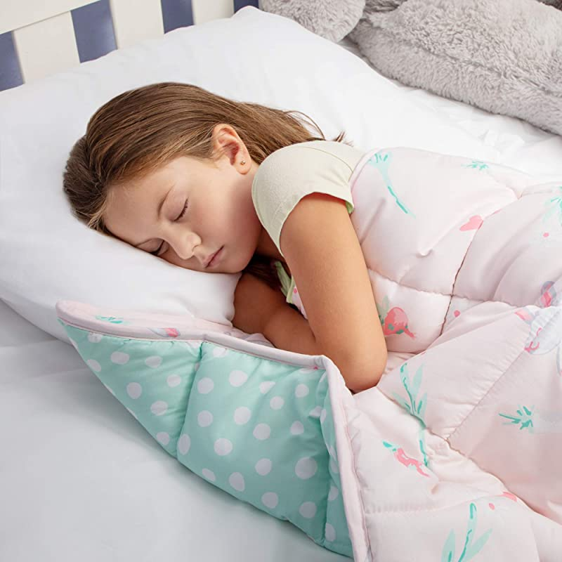 Weighted Blanket For Kids 5 Lbs Weighted Blanket For Toddler With Anxiety Insomnia ADHD ASD Kids Weighted Blanket Machine Washable Pink Weighted Blanket