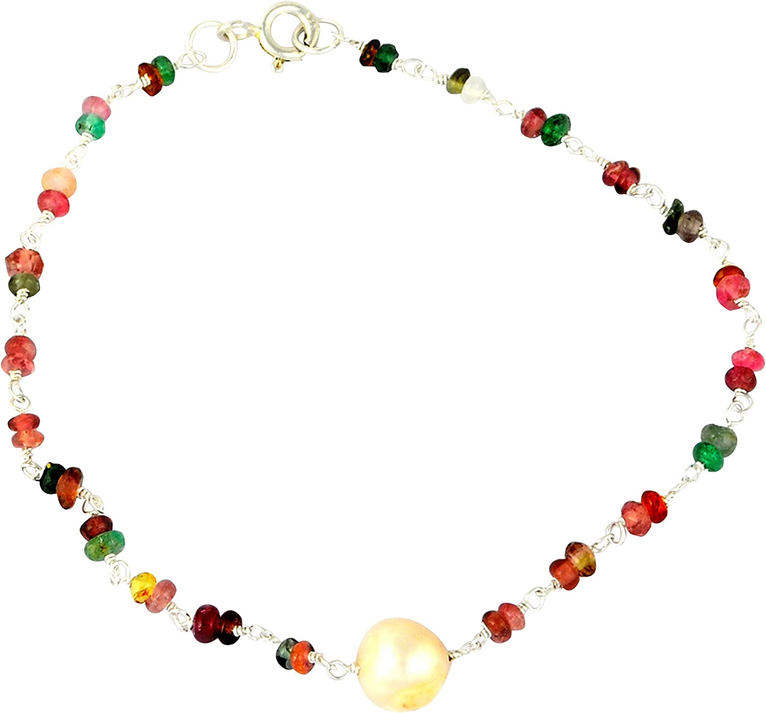 Orchid discount Jewelry Sterling Silver Se 2021 new Bracelet Beaded Hypoallergenic