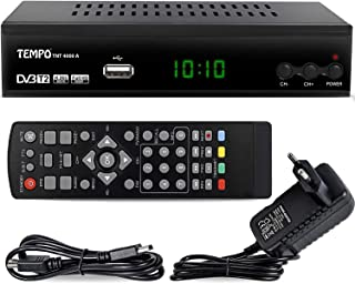 hd line Tempo 4000 A DVBT2 Receiver Full HD 1080P 4K für TV ( HEVC/H.265 HDMI SCART, USB 2.0 , DVBT 2 , DVB T2 , DVB T2 , DVBT 2 ), Reciver , Resiver, Empfänger , Schwarz, tmp4000