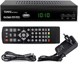 Tempo tmp4000 - Decoder Digitale Terrestre DVB T2 / HD / HDMI / Ricevitore TV / PVR / H.265 HEVC / USB / DVB-T2, Nero