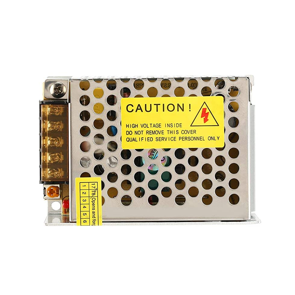 魔女みがきます場所DC 5V 36W LED電源スイッチ電流電圧ドライバアダプタスイッチング照明安定化変圧器定電圧(色:黒)