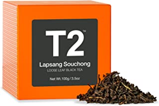 T2 Tea Lapsang Souchong Black Tea, Loose Leaf Black Tea in Gift Cube, 100 g