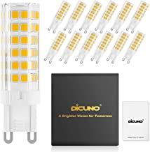 DiCUNO G9 LED Ceramic Bulb 6W 550LM Warm White 3000K 220-240V Energy Saving Lamp Chandelier Non-dimmable 12Pcs