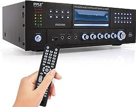 Pyle 4 Channel Wireless Bluetooth Amplifier - 3000 Watt Stereo Speaker Home Audio Receiver w/ FM Radio, USB, 2 Microphone ...