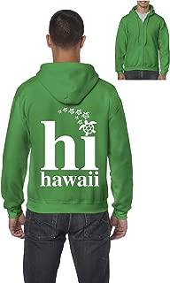 Hawaii Sea Turtles Maui Kauai Oahu Hawaiian Islands Men's Full-Zip Hooded Sweatshirt (2XLIG) Irish Green
