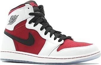 NIKE Jordan Mens Retro 1 High Og WHITE/CARMINE//BLACK 55508-123 10.5