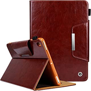 LFPING New Crazy Horse Texture Horizontal Flip Case for iPad 9.7 (2018) & iPad 9.7 inch (2017), with Holder & Card Slots (Color : Brown)