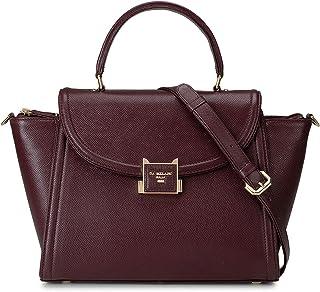 Burgundy Franzy Satchel Bag