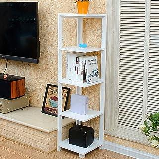 WWWANG Estantería esquinera de 5 capas, estante de almacenamiento de flores, 33 x 33 x 135 cm, 2 colores opcionales Blanco blanco
