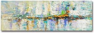 Fajerminart Cuadro En Lienzo - Decoracion Turquesa Cuadros Abstractos Impresiones sobre Lienzo, Lienzos Decorativos Adecuado Cuadros Dormitorios, Cuadros Decoracion Salon Modernos 60x180cm(Sin Marco)